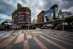 Buildings at Zhongxiao Fuxing, in Taipei, Taiwan. Royalty Free Stock Image