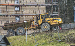 Builds 328 student apartments, dump truck Royalty Free Stock Image