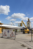 Buildup of the Oktoberfest tents at Theresienwiese in Munich, 20 Stock Photo