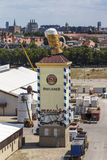 Buildup of the Oktoberfest tents at Theresienwiese in Munich, 20 Royalty Free Stock Photos