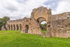 Buildwas修道院,萨罗普郡,英国 免版税库存照片