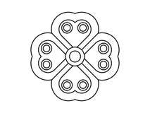 Флористический вероятный орнамент на белой предпосылке иллюстрация вектора