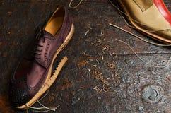 builing итальянские ботинки Стоковая Фотография