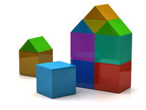 Builing icon 3d Stock Image