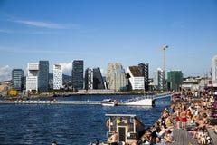 Builings de Sorenga e de código de barras em Oslo Fotografia de Stock Royalty Free