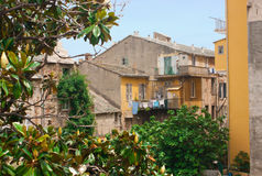 Builldings of Bastia, Corsica. View on buildings of Bastia in Corsica Royalty Free Stock Photo