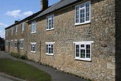 Builldings murados pedra da vila Imagem de Stock Royalty Free