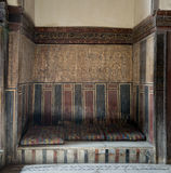 Built-in arabian bench couch at El Sehemy house, Cairo, Egypt Stock Photo