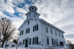 Smithfield Community Center - Peterboro, NY. Built in 1820 as the Peterboro Presbyterian Church. In 1835, the first meeting of the New York Anti-Slavery Society Royalty Free Stock Image