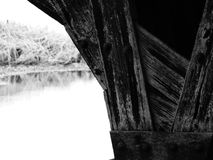 Under the Bridge at the Whalehead Club. Built as a private hunting lodge in 1922, the Whalehead club in the Outer Banks of North Carolina is still celebrated and Stock Image
