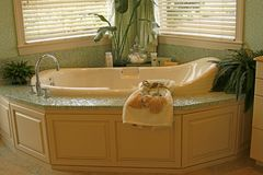 Built-in bathtub Royalty Free Stock Photo