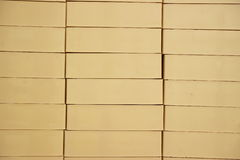 Built of beige brick. Constructed of a beautiful beige brick stock photos