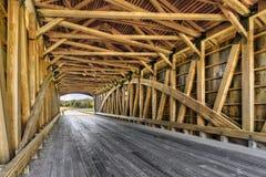 Inside Captain Swift Covered Bridge. Built in 2006, the Captain Swift Covered Bridge, as seen from inside, crosses Big Bureau Creek  near Princeton, Illinois Stock Images