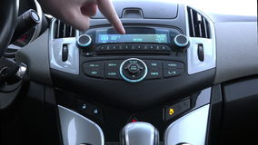 Built-in car dashboard Chevrolet Cruze with indicators and sensors monitor the vehicle status