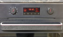 Electric oven display closeup Royalty Free Stock Photo