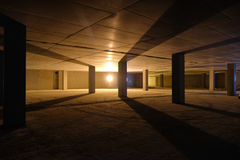 Built empty space underground parking Stock Photos