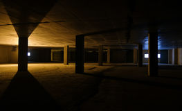 Built empty space underground parking Royalty Free Stock Images