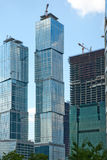 Built high-rise buildings in the Moscow. 's Business Center royalty free stock image