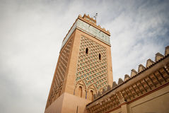 The Kasbah Mosque in Marrakech (Motocco) royalty free stock photography