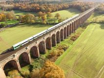 Ouse Valley Viaduct in Sussex. Built in 1841 the Ouse Valley Viaduct over the River Ouse on the London to Brighton railway line. When constructed it used over Royalty Free Stock Images