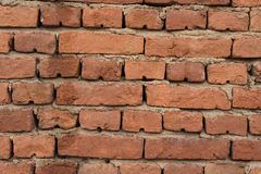 Built in 1960. Picture of  a Weathered stained old brick wall background, wall build 1960 Stock Photos