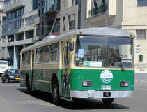 1952-built Pullman-Standard trolleybus on the street of Valparaiso Stock Photos