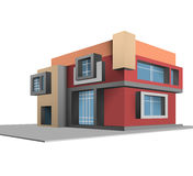 Built scene completely new house Royalty Free Stock Image
