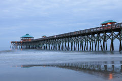 Charleston Folly Beach SC Pier South Carolina Royalty Free Stock Photography