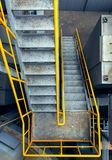 Steelstairs In A Plant, Industrial Zone. Built Structure, Elevated Walkway, Factory, Industrial Building, Pedestrian Walkway Royalty Free Stock Photography