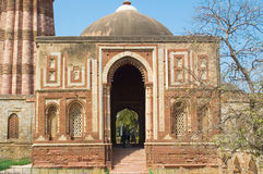 Built structure in qutub minar Stock Photo