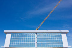 Built Structure and tower Crane. Contemporary Built Structure and tower Crane Stock Images