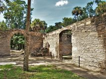 Sugar Mill Ruins. Built in the 19th century and once part of the Cruger-dePeyster Plantation, Sugar Mill Ruins is a 17 acre historic site that contains ruins of stock photography