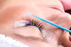 Built up false eyelashes Royalty Free Stock Photos