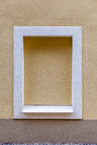 Built-up window in the tenement house. Royalty Free Stock Photos