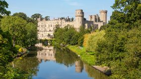 Warwick Castle in England. Built by William the Conqueror in 1068, Warwick Castle is a medieval castle in Warwick, the county town of Warwickshire, England. It Stock Images