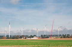 Built wind power stations Royalty Free Stock Photo