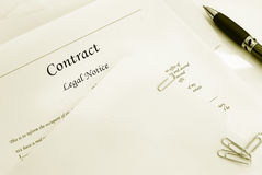 Buiness contract Royalty Free Stock Images
