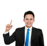 Buiness man pointing up Royalty Free Stock Photo