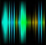 Buio astratto blu e verde dell'onda Fotografia Stock Libera da Diritti