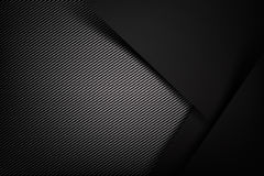 Buio astratto del fondo con il illust di vettore di struttura della fibra del carbonio illustrazione di stock