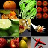Buio vegetariano organico del collage dell'alimento del vegano Immagine Stock Libera da Diritti
