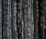 Buirned wall. Burned wooden wall Stock Photos