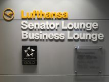 Buiseness lounge in airport royalty free stock photo