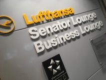 Buiseness lounge in airport stock images