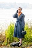 Buisiness Woman with Phone Stock Photos