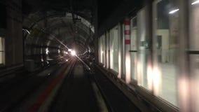 Buismetro metro ondergronds stock videobeelden