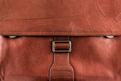 Buisness bag texture. Leather buisness closed briefcase texture Stock Image