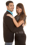 Buisness couple embrace smile Royalty Free Stock Photos