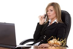 Buisness execuitive on phone Stock Photo