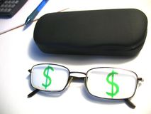 Business glasses Stock Photo